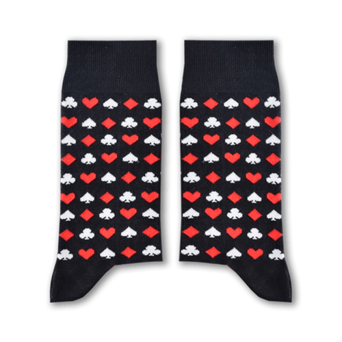 Cards Socks (Black) - Fouxx.com