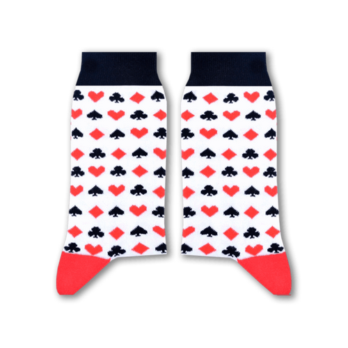 Cards Socks (White) - Fouxx.com