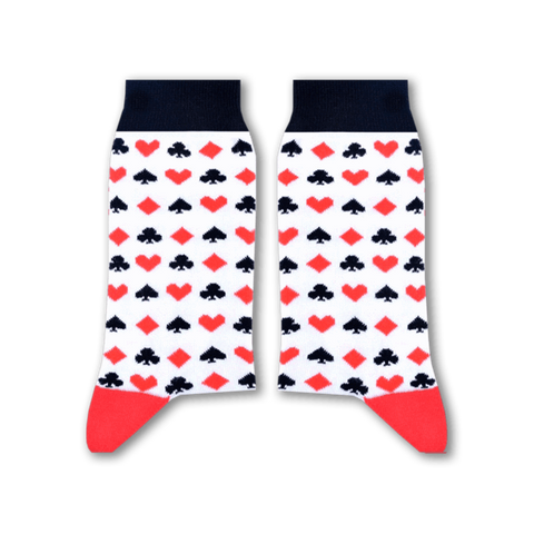 Cards Socks (White)
