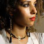 Sinsla Strand Earrings - Black - Fouxx.com