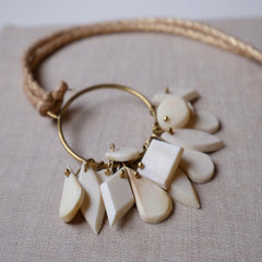 B&B Pendant Necklace - Natural White