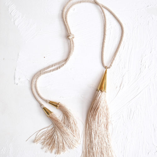 Zabra Tassel Necklace - Ginger - Fouxx.com