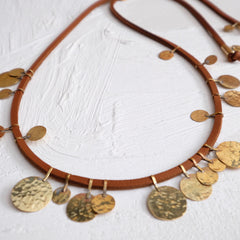 Floos Mixed Necklace - Cognac