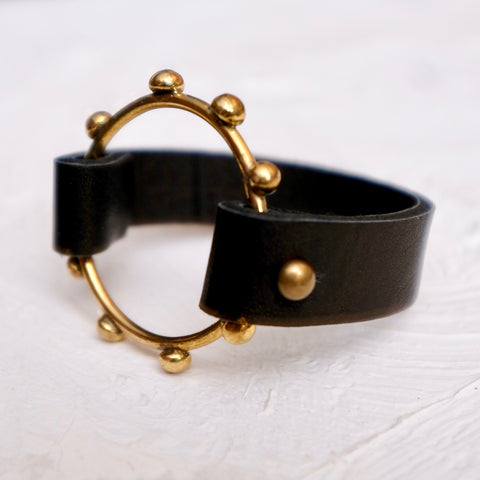 Hebba Halo Bangle - Black