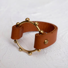 Hebba Halo Bangle - Cognac