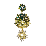 Green & Yellow Bloom Earring - Fouxx.com