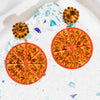 Half Orange Earrings - Fouxx.com