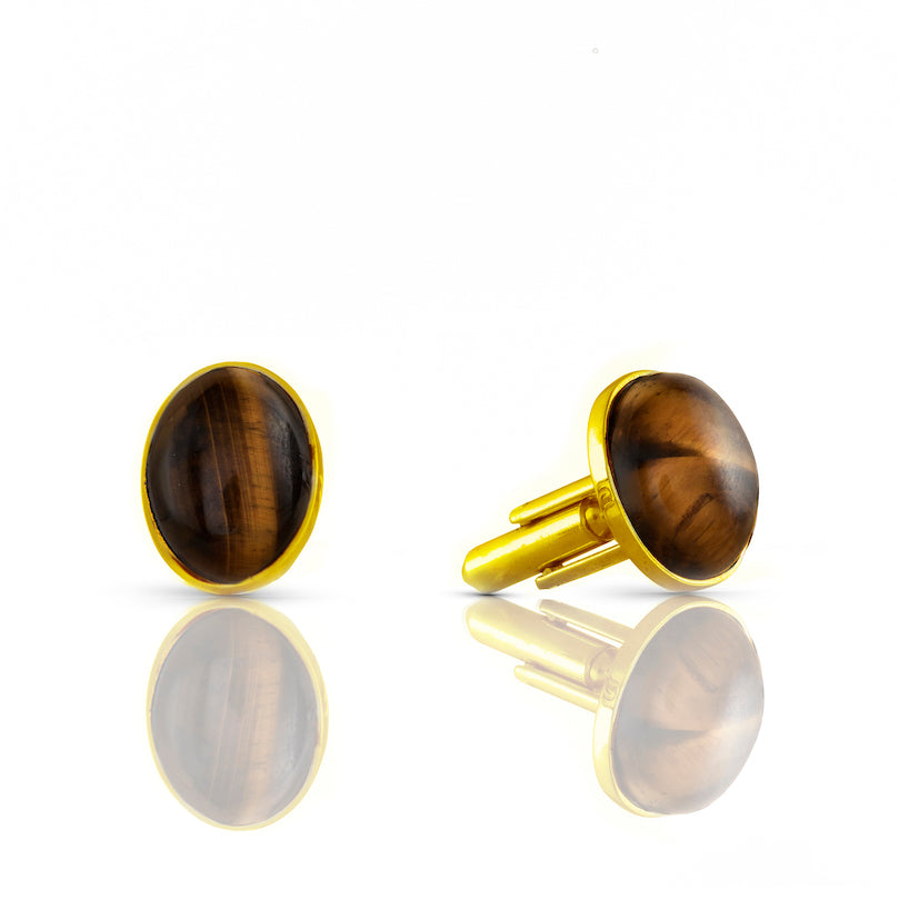 The Tiger Eye Cufflinks