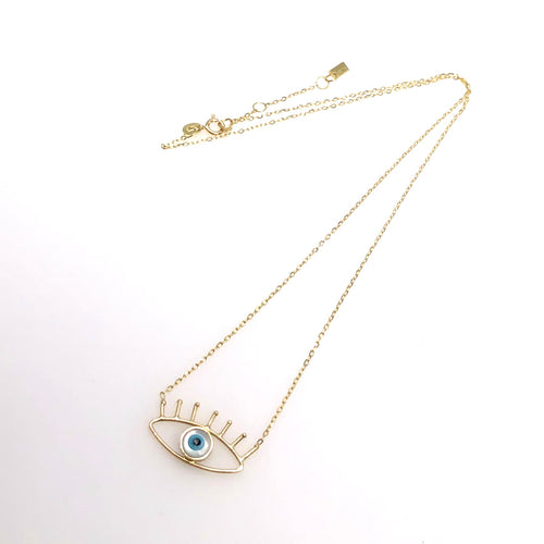 Mother of Pearl Eye Necklace - Fouxx.com