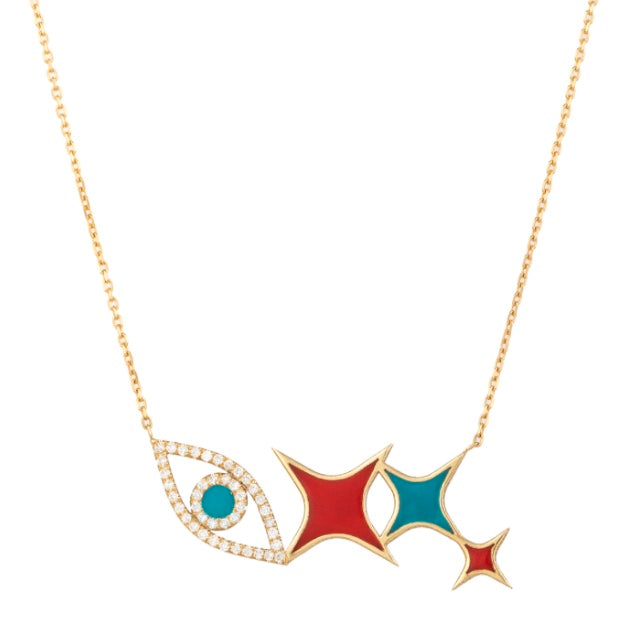 Eye & Star Diamond Necklace