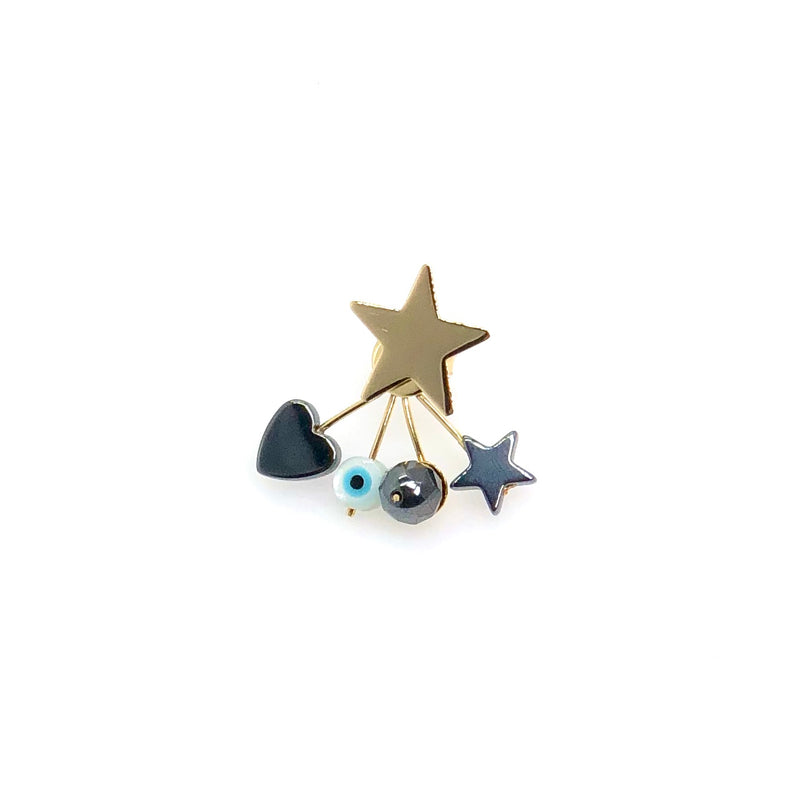 Yellow Gold Star Earring - Fouxx.com