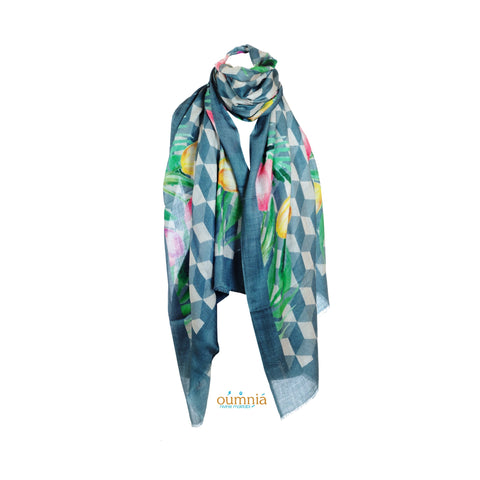 Tiles Cashmere Scarf