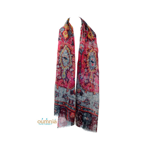 Carpet Design Wool Scarf - Fouxx.com
