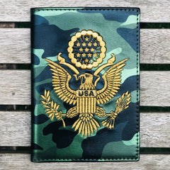 Green Camo - USA Passport Cover