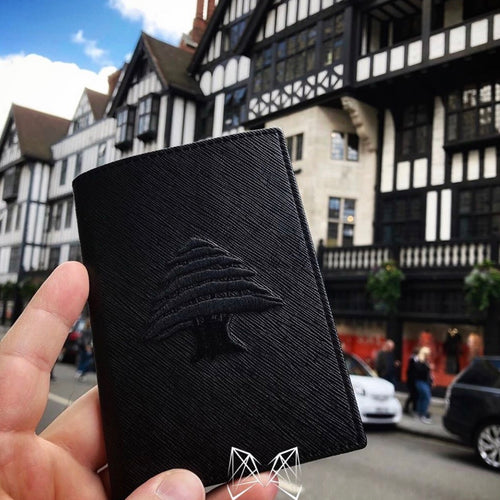 Black on Black - Lebanon Passport Cover - Fouxx.com