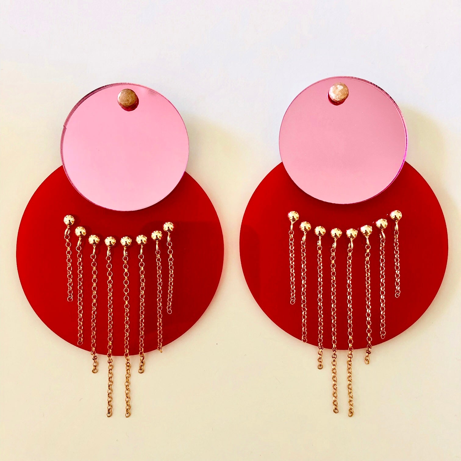 Circle Chain - Red & Pink