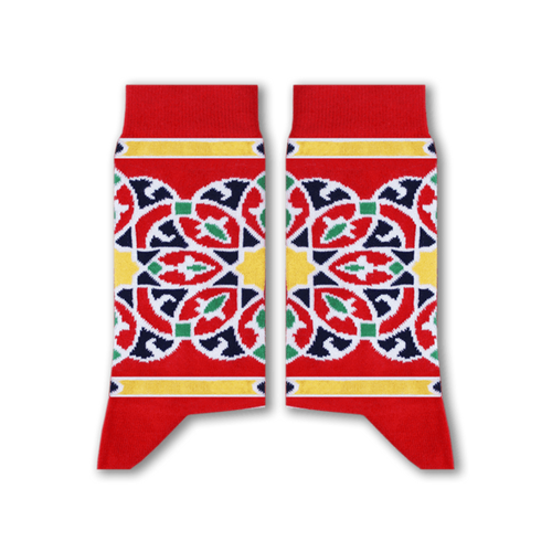 Khayamiya Socks (Red) - Fouxx.com
