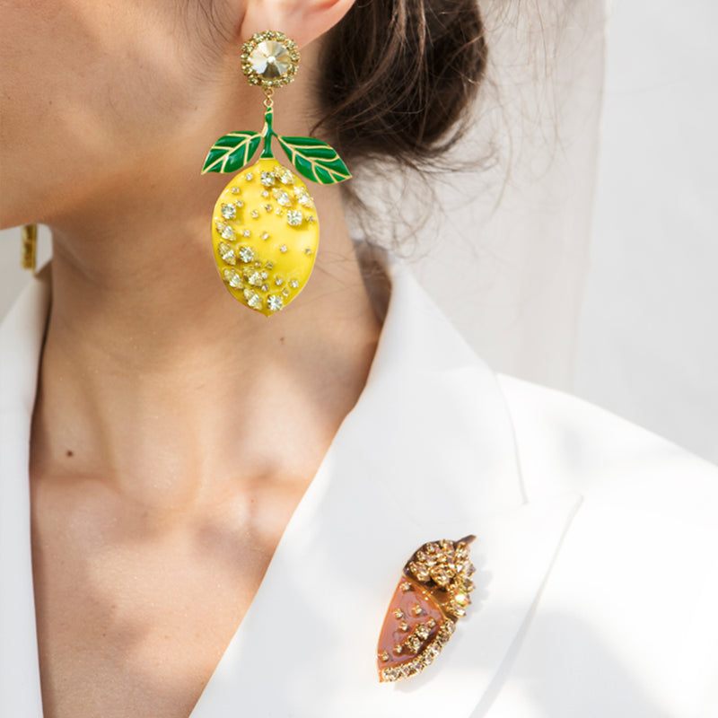 Lemon Earrings - Fouxx.com