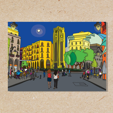 Downtown Beirut - Wood Poster