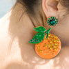 Orange Earrings - Fouxx.com