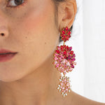 Pink & Red Bloom Earring - Fouxx.com