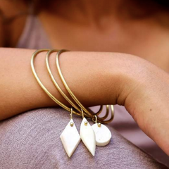 B&B Shapes Bangle - Natural White