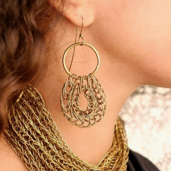 Sinsla Double Loop Earrings