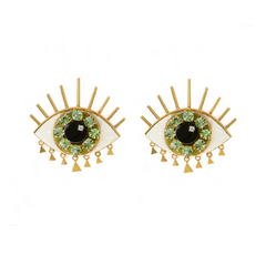 Eye Green Earrings