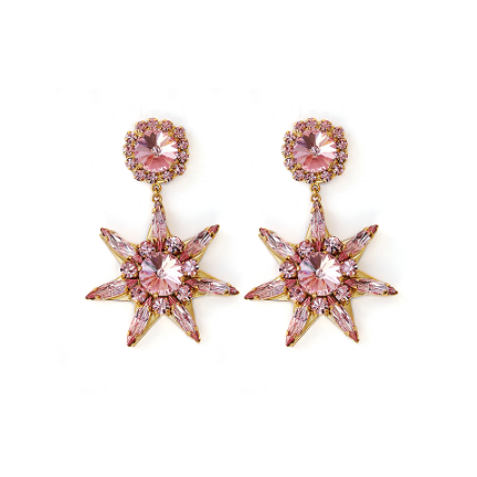 Star Pink L. Earrings