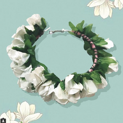 White Flower Hoop