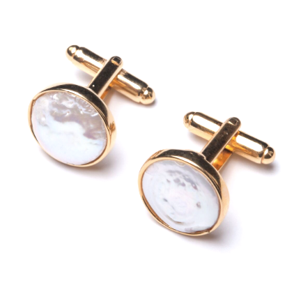 El Pearl Cufflinks - Gold