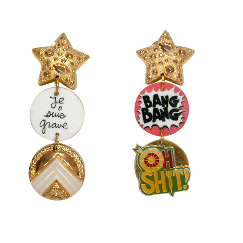 Bang Bang Clip On Earrings - Fouxx.com