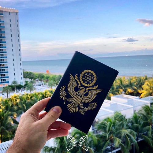 Black - USA Passport Cover - Fouxx.com