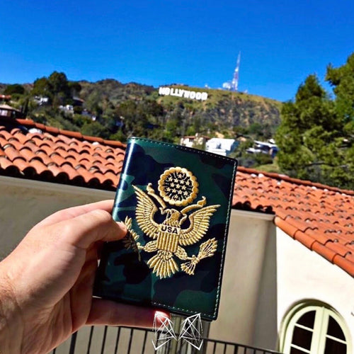 Green Camo - USA Passport Cover - Fouxx.com