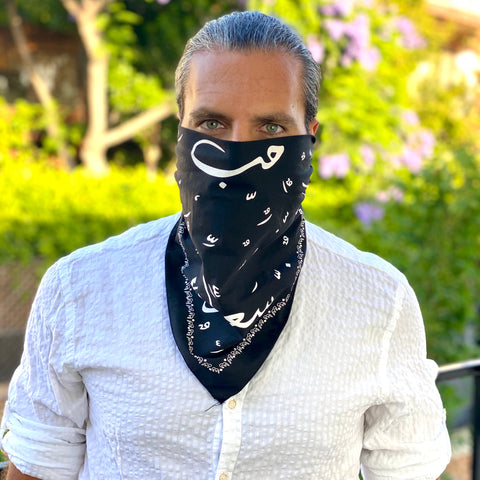 Black Bandana & Face Cover