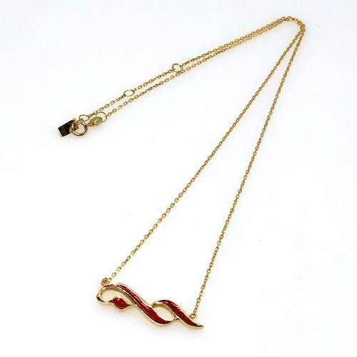 "Hob ""Love"" Enamel Necklace - Fouxx.com"