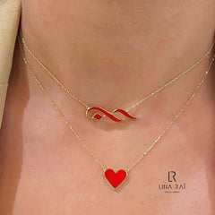 "Hob ""Love"" Enamel Necklace"