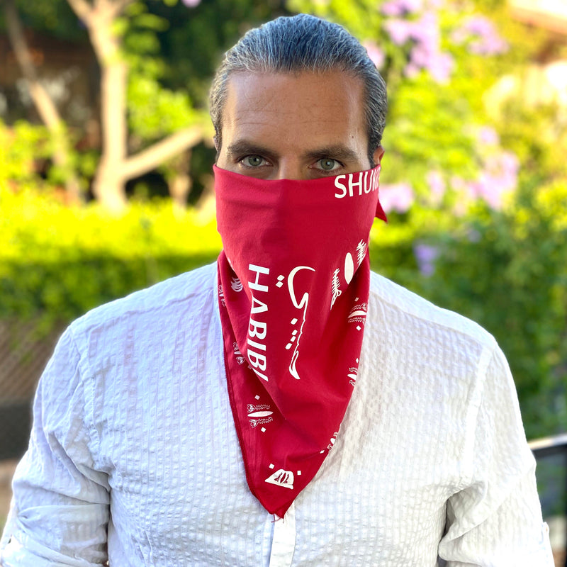 Red Bandana & Face Cover - Fouxx.com