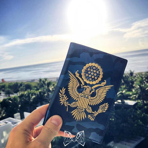 Blue Camo - USA Passport Cover - Fouxx.com
