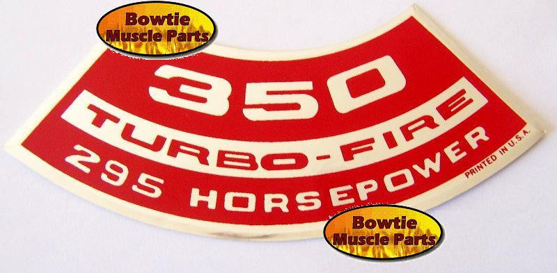 1965 1966 CHEVROLET CORVETTE CHEVELLE IMPALA CHEVY II COOLING SYS DECAL