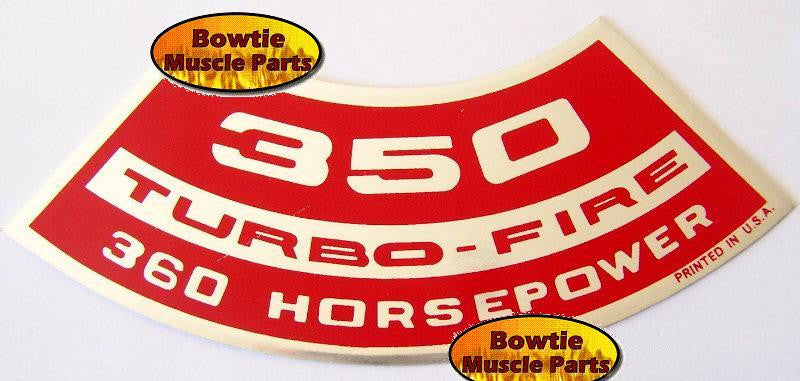 1970 70 CAMARO Z28 350 TURBO-FIRE 360HP LT1 ENGINE DECAL- FREE SHIPING