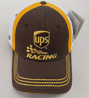 UPS NASCAR HAT DAVID REGAN CAR NUMBER 6 AUTHENTIC NASCAR CHASE APPAREL - NEW CAP