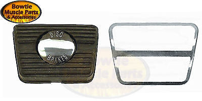 68 68 69 CAMARO CHEVELLE NOVA FIREBIRD BRAKE PEDAL PAD WITH STAINLESS STEEL TRIM