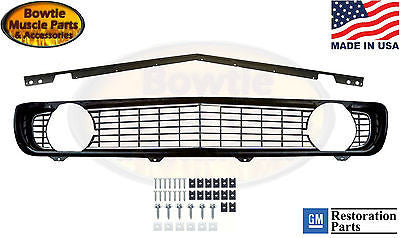 69 CAMARO STANDARD GRILLE WITH STIFFENER AND HARDWARE STD GRILL 1969 KIT