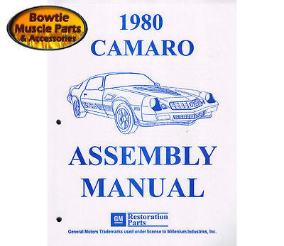 1980 80 Camaro Factory Assembly Manual Z28 RS Berlinetta - 612 Pages!