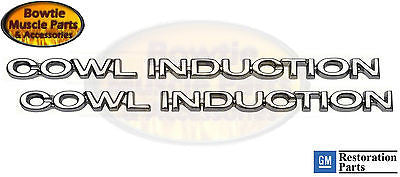 70 71 72 CHEVELLE EL CAMINO COWL INDUCTION EMBLEM EMBLEMS CAMARO NOVA 67 68 69