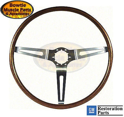 67 68 WALNUT WOOD STEERING WHEEL CAMARO IMPALA NOVA CHEVELLE RPO NK1