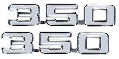 69 CAMARO 350 FENDER EMBLEMS EMBLEM PAIR GM LICENSED BEST FIT AND QUALITY!