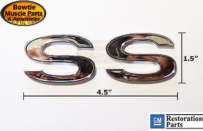 67 68 69 70 71 72 73 74 75 CAMARO SS RETRO FENDER EMBLEM PAIR EMBLEMS 76 77 78
