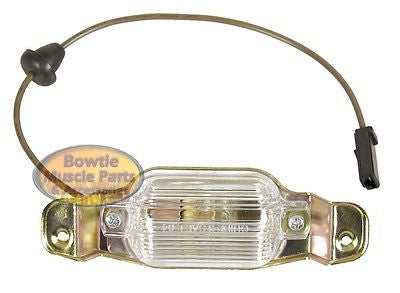 66 67 68 69 CAMARO CHEVELLE NOVA LICENSE LAMP ASSEMBLY